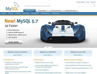 Thumbshot of Mysql.com
