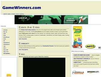 Thumbshot of Gamewinners.com