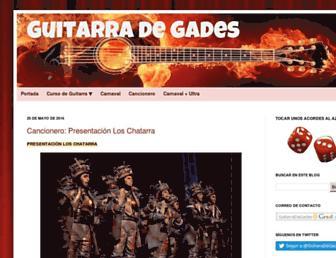guitarradegades.com screenshot
