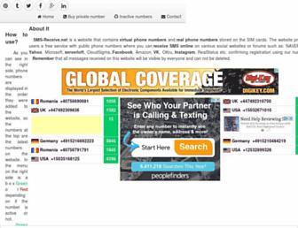sms-receive.net screenshot