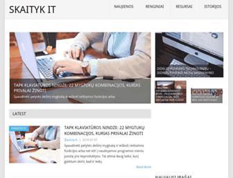 Main page screenshot of skaitykit.lt