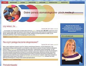 Main page screenshot of plock.media.pl