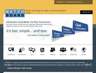 matchboard.com.au screenshot