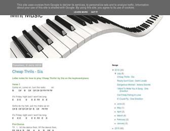 mintmusic.co.uk screenshot