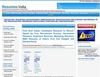 resumes-india.com screenshot