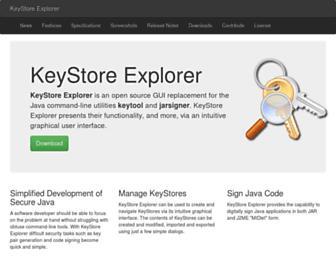 keystore-explorer.org screenshot
