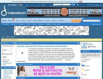 Main page screenshot of craiovaforum.ro