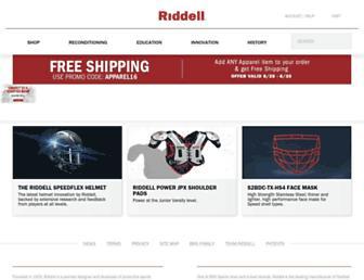 riddell.com screenshot