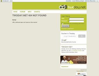 Main page screenshot of litart.twoday.net