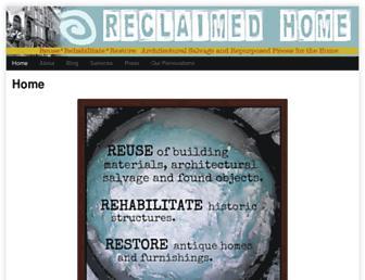 reclaimedhome.com screenshot