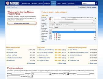 plugins.netbeans.org screenshot