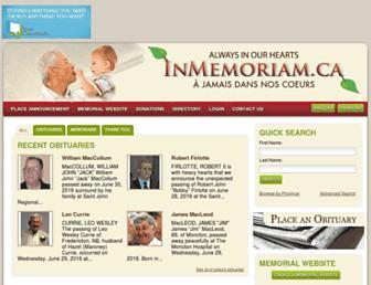 Thumbshot of Inmemoriam.ca