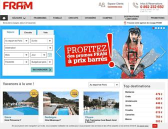 fram.fr screenshot