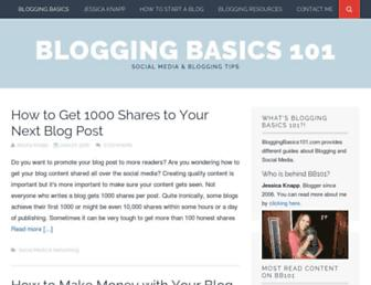 Thumbshot of Bloggingbasics101.com