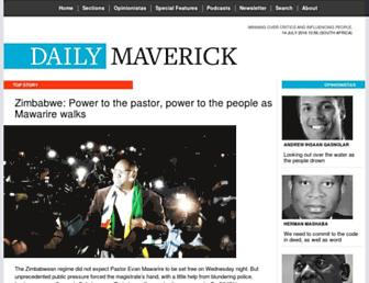 dailymaverick.co.za screenshot