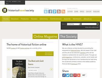 historicalnovelsociety.org screenshot