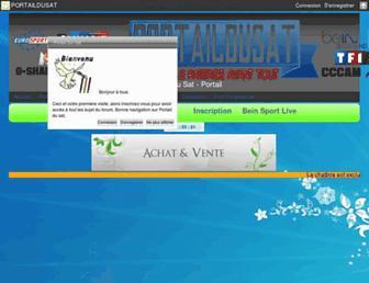 portaildusat.com screenshot