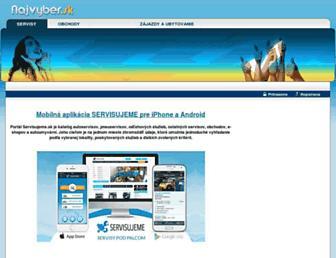 Main page screenshot of najvyber.sk