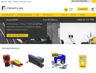 frontline-safety.co.uk screenshot
