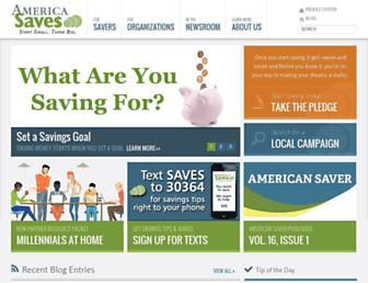 Main page screenshot of americasaves.org