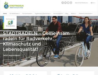 Main page screenshot of stadtradeln.de