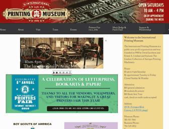 Main page screenshot of printmuseum.org