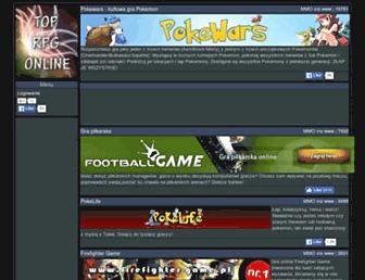 Main page screenshot of toplista.i-rpg.pl