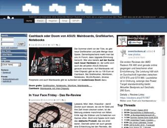 Main page screenshot of overclockers.at