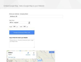 embedgooglemap.net screenshot