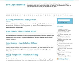 liriklaguindonesia.com screenshot