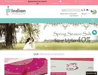 indianweddingcards.com screenshot