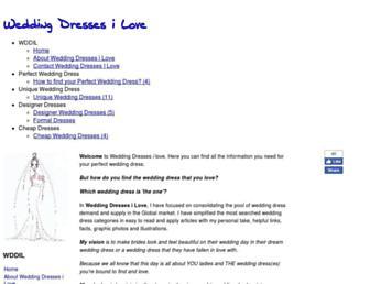 weddingdressesilove.com screenshot