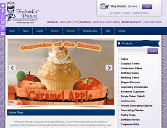 Main page screenshot of pastry.net