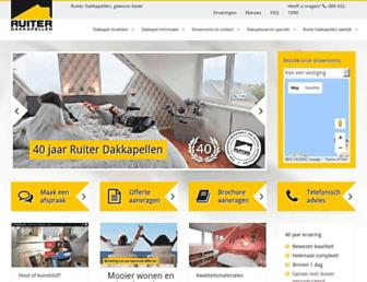 Main page screenshot of ruiterdakkapellen.nl