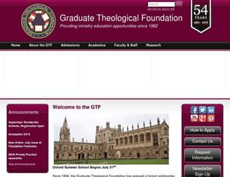 Main page screenshot of gtfeducation.org