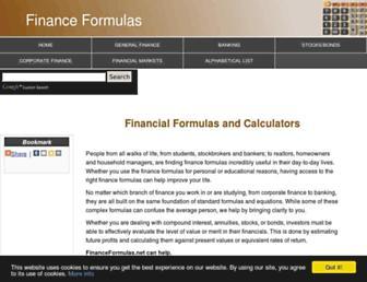 Fullscreen thumbnail of financeformulas.net