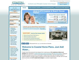 coastalhomeplans.com screenshot