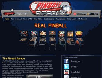 pinballarcade.com screenshot