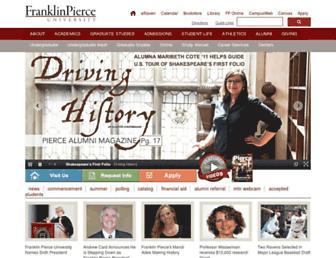 Main page screenshot of franklinpierce.edu