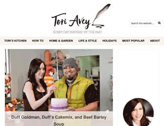 toriavey.com screenshot