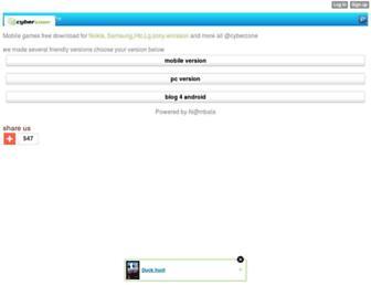 cyberzone.mobie.in screenshot