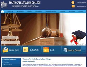 southcalcuttalawcollege.ac.in screenshot