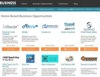 Main page screenshot of work-at-home.business-opportunities.biz