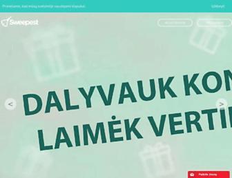 Main page screenshot of islosk.lt