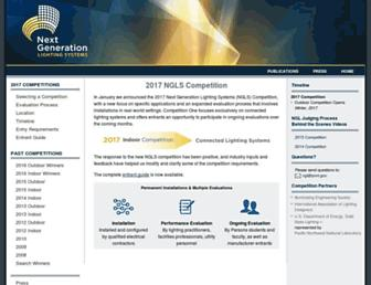 Main page screenshot of ngldc.org
