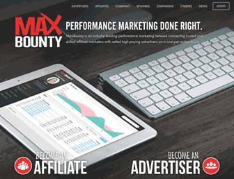 Thumbshot of Maxbounty.com
