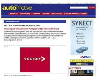 Main page screenshot of hanser-automotive.de