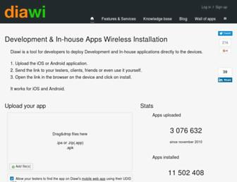 Thumbshot of Diawi.com