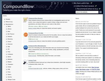 compoundbowchoice.com screenshot