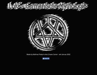 Main page screenshot of lokis-mythologie.de